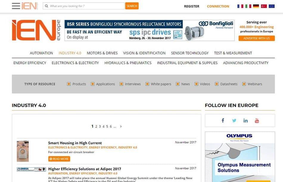 New IEN.EU website