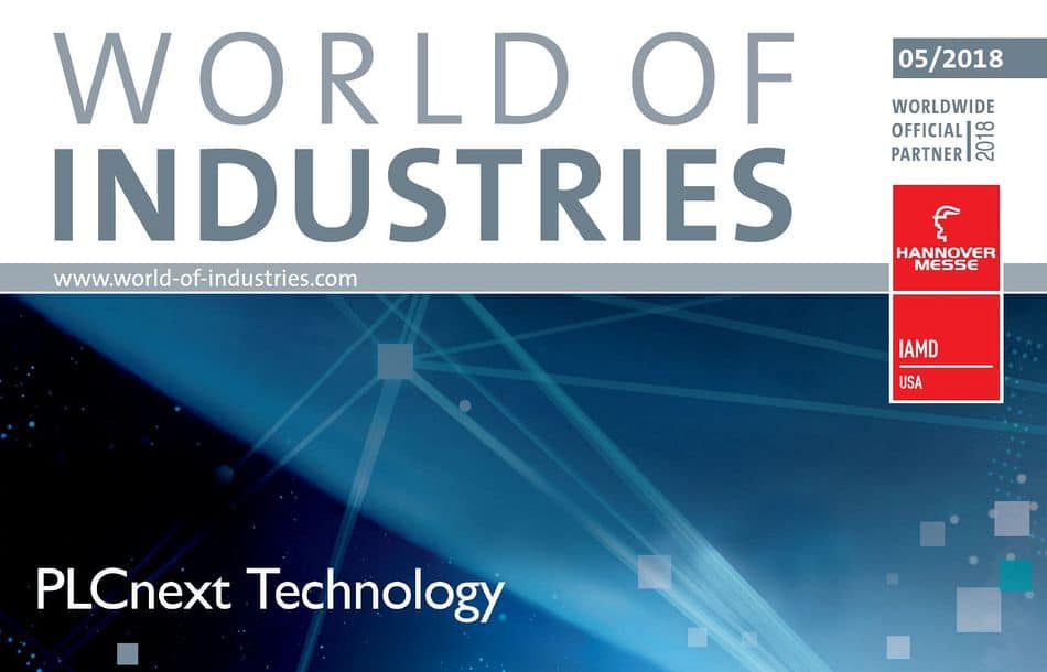 enhance your automation thinking – WORLD OF INDUSTRIES 5/2018 is now available!
