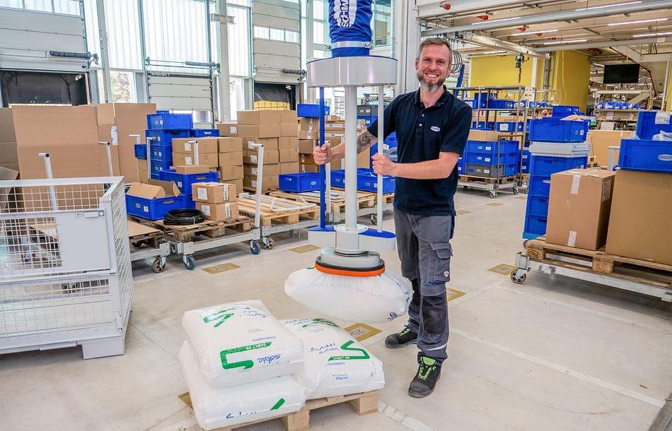 Flexible Vakuum-Lösungen für Mensch und Roboter
