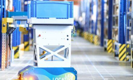 Fahrerloser Behältertransporter für Produktionsabläufe just in time