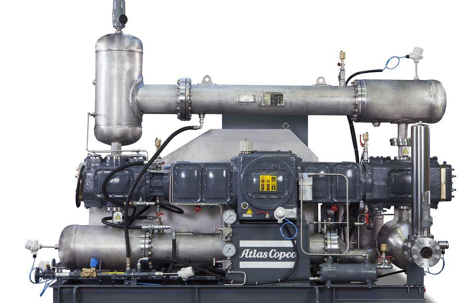 Kolbennachverdichter komprimieren CO2