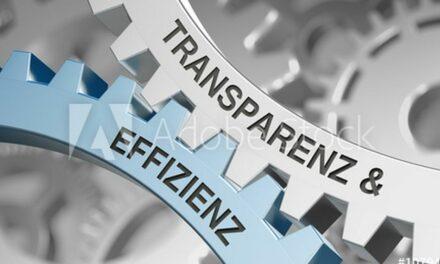 Effizienz durch Transparenz