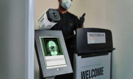 Radiometrische Wärmebild-Überwachungskamera misst erhöhte Hauttemperaturen präzise